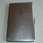 Art Deco Style Slim Line Compact Metal Cigarette Case by Romano England